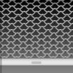 Rideau métallique à lames dentelle